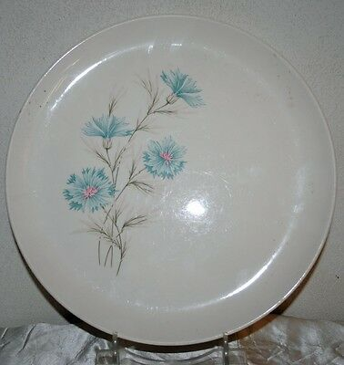 """1962 BLUE FLORAL BOUTONNIERE EVER YOURS USA PLATE BY TAYLOR, SMITH & TAYLOR 10"""""""
