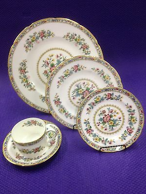 Vintage 5 Piece Place Setting of Coalport Ming Rose Bone China from England