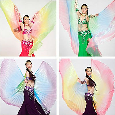 Belly Dance Accessory Tanzen Bauchtanz Costume 360°Gradient Colourful Isis Wings