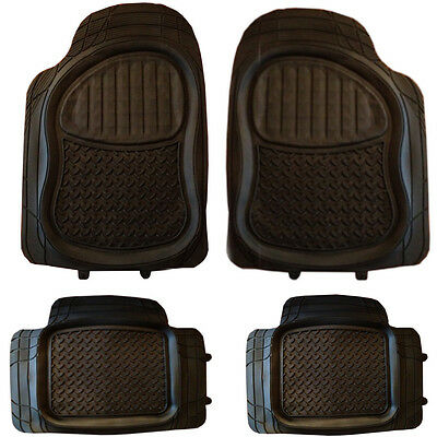 Jaguar X-Type S-Type XF XFR XJ Rubber PVC Car Mats Extra Heavy Duty 4pcs