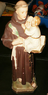 VERY OLD St. Anthony of Padua Statue -Venetian Lido Co. Finder Love/Lost