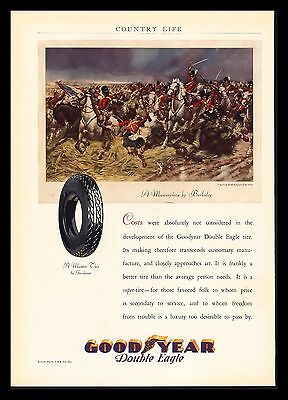 "Original 1929 ""goodyear Double Eagle Tire"" Stanley Berkeley  Art Print Ad"