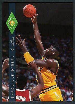 SHAQUILLE O'NEAL~LSU TIGERS ALL-AMERICAN~1992 CLASSIC FOUR-SPORT ROOKIE/RC #318