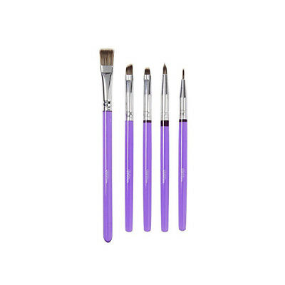 Wilton 5pc Deluxe Cake Decorating Brush Set Sugarcraft Food Paint Decoration
