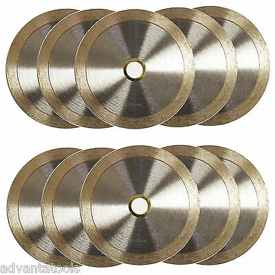 "10PK 4.5"" Standard Wet / Dry Cutting Continuous Rim Tile Diamond Saw Blade"