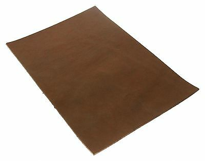 Full Grain Vegetable Tanned A4 Tooling Leather for Leathercraft Brown 6oz 2.5mm