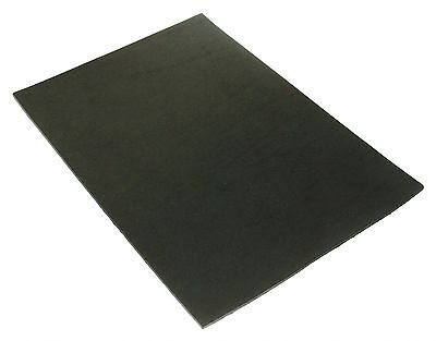 Full Grain Vegetable Tanned A4 Tooling Leather for Leathercraft Black 6oz 2.5mm