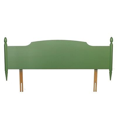 Vintage Painted Stag Minstrel Georgian Green Double Bed Headboard Post-1950 x