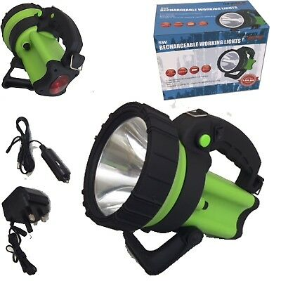 Hunting Farmer 6 Million 5 Watt Cree 600M Beam Rechargeable Torch Spot Lamp Hand