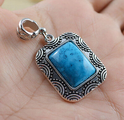 fashion jewelry  Natural hot Turquoise cute tibet silver PENDANT    **XL1164