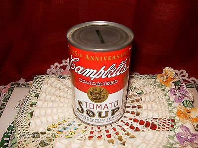 Original Campbell's Soup Company :125th. Anniversary Edition : Tin Can Coin Bank