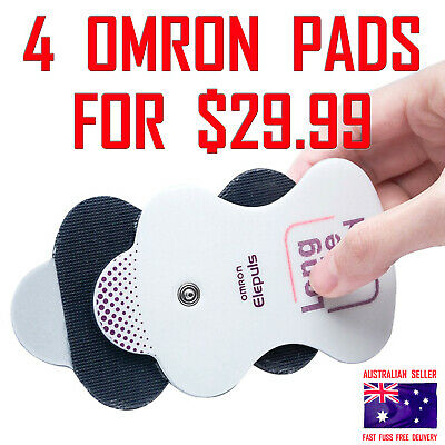 Omron HVF TENS Electrodes Machine Long Life Gel Pads 1 PAIR