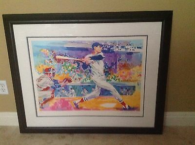 FRAMED TED WILLIAMS LIMITED EDITION BOSTON RED SOX  LEROY NEIMAN SERIGRAPH