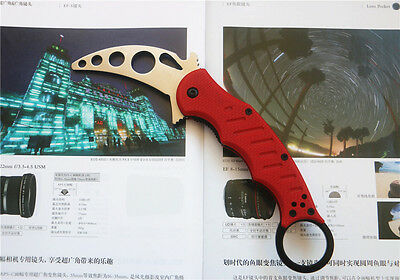 Training Karambit Knife Trainer Saber Folding Metal Blade No blade point D81 NEW