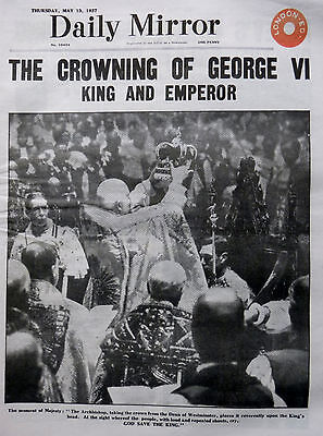 5-1937 May 13 CROWNING GEORGE VI - KING EMPEROR - QUEEN MARY - WESTMINSTER ABBEY