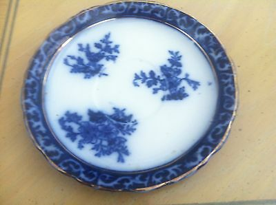 "FLOW BLUE-TOURAINE-STANLEY-6"" SAUCER"