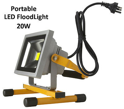 NEW Portable 20W LED Work Flood Light Outdoor Camping Free Standing IP65 240V