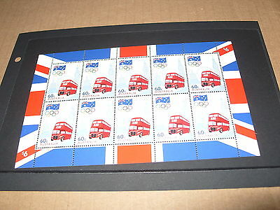 * AUSTRALIA MINT STAMP MINIATURE SHEETLET AUSTRALIAN OLYMPIC TEAM ROAD TO LONDON