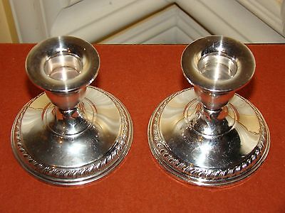 Vintage Pair of Sterling Silver Columbia Weigted Candle Holders/Candlesticks
