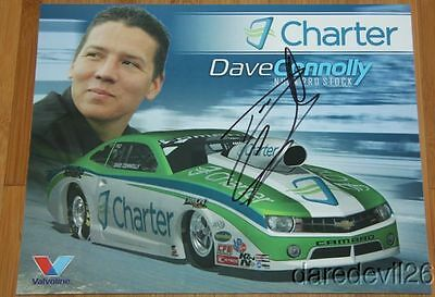 2014 Dave Connolly signed Charter Chevy Camaro Pro Stock NHRA postcard
