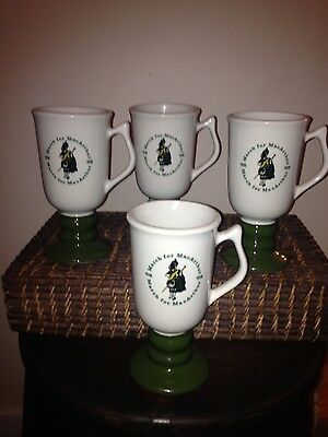 March for MacArthur 1968 Irish coffee mugs set of 4 mint condition