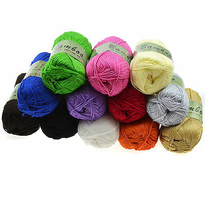 Soft Fingering Durable Natural Bamboo Cotton Knitting Yarn Crochet For Sweater