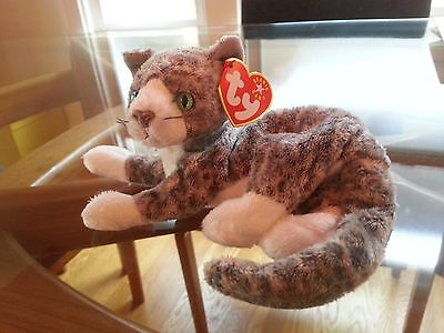 'Purr' the Cat Ty Beanie Baby - MINT - RETIRED