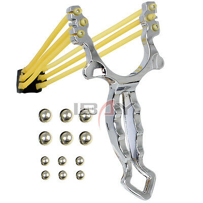 Crazy Fox Powerful Slingshot Stainless Steel Pro Sling Catapult Outdoor Hunting