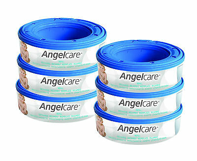 Angel Care Refill Cassette for nappy disposal system -Twin pack (6 cassettes)