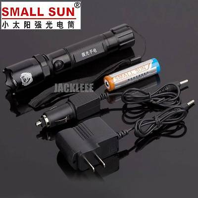 SMALL SUN CREE LED 18650  Rechargeable Flashlight Torch + 2 Charger Battery S13