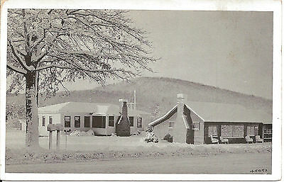 Winter-Ruther-House of Shakers-North Wilbraham-Massachusetts-Vintage Postcard