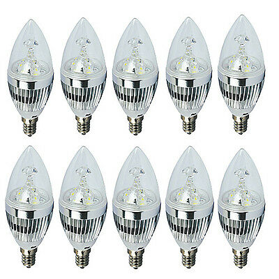 10x E12 Dimmable 3W 6W 9W High Power LED Chandelier Candle Light Bulb