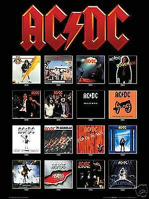 AC/DC - ALBUM COVERS POSTER - 24x36 SHRINK WRAPPED - MUSIC 3231