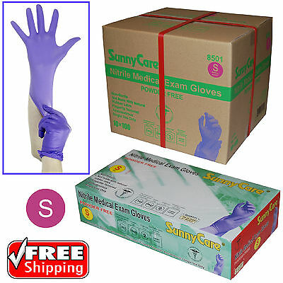 SunnyCare® 3.5Mil Nitrile Powder-free Medical Exam Gloves (Latex Vinyl Free) S