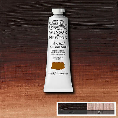 Winsor & Newton Artists Oil Color Paint Tube 37ml Brown Madder 1214056