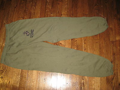 usmc,sweat pants, pt,new old stock,50%/50%,,large,nsn # crossed out