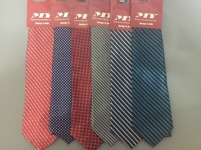 Lot of 12 Brand New Men Necktie Different Color/Designs W/ Tags