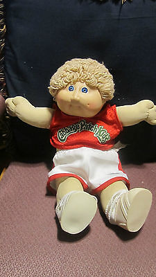 "Vintage  Blonde Cabbage Patch Kid Boy Doll 18"" Tall Original  Clothes shoes"