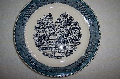 Currier & Ives Royal China Pie Dish-Return from Pasture-Set Of 4 Hard to Find