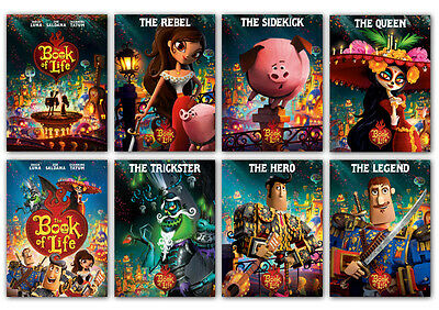 The Book Of Life 2014 Animation Movie cartoon new Postcard 8pcs per set