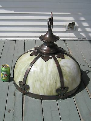 HUGE DOME ART & CRAFTS HANGING SHADE , VERY HIGH QUALITY