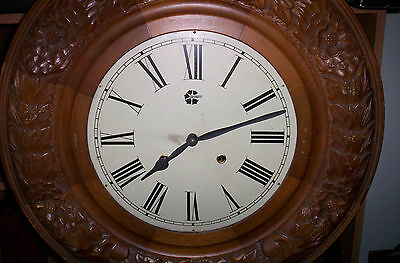 """Large Westminster chiming wall clock"""" Wood round face frame ONLY."""" About 22 inch"""
