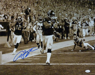 ARIAN FOSTER AUTOGRAPHED/SIGNED HOUSTON TEXANS 16X20 PHOTO (B&W) w/JSA