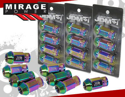 JDM SPORT M12x1.5MM 20PCS FORGED ALUMINUM LUG NUTS SET NEO CHROME HONDA/ACURA