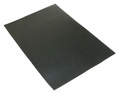 Full Grain Vegetable Tanned A4 Oil Leather for Leathercraft Black 3oz 1.2mm