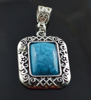 fashion jewelry  Natural hot Turquoise cute tibet silver PENDANT    **XL1420