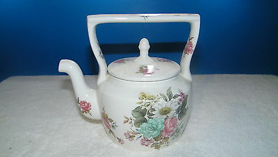 Arthur Wood Teapot Pink Roses and Numbered 5691