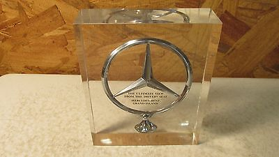 Vintage Mercedes-Benz Hood Ornament Paperweight Grand Island Neb