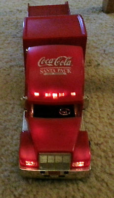 Coca Cola COKE Helicopter Carrier Lighted Semi Freight Truck Collectible GOLD Ed
