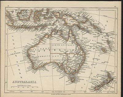 Australia 1853 Lowry antique map Tooley #878 w/ the Mythical Lake Torrens